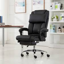 Leather Office Armchair Belleze Executive Reclining Office Chair High Back Pu Leather