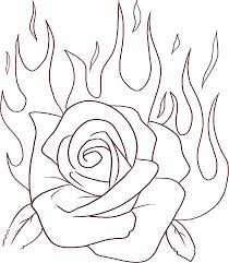 fire flower coloring pages coloring home