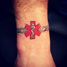 tattoo medical alert my husband scott got this today