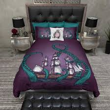 Black And Purple Bed Sets Bedding Sets Set Fullqueen By Mi Black White Floral Bed In A Bag
