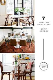 Eclectic Home Decor by Home Decor Just Add Chairs 7 Awesome Tulip Table Chair Combos