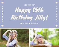 birthday photo collage templates canva