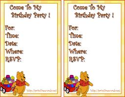 kids birthday party invitation cards vertaboxcom printable