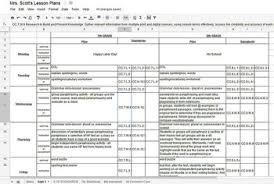 Spreadsheet Lesson Plans For Middle K 12 Ela Common Weekly Lesson Plan Template In Excel Or