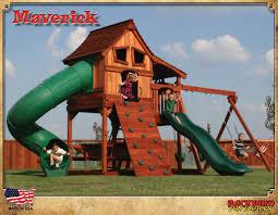 maverick swing set i love the barn style doors on this set fun