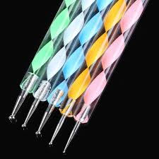 2017 new 20 pcs nail art tool polish drawing brushes marbleizing