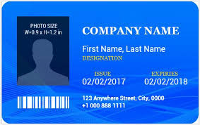 ms word photo id badge sample template word u0026 excel templates