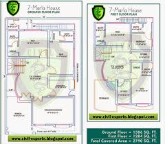 home design 4 marla civil experts 7 marla house plans design no 3 clipgoo