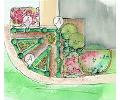 introduce structure and interest to the vegetable garden with