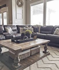 Gray Wood Coffee Table Blue Living Room Brown Sofa Glass Table Top And Storage Green