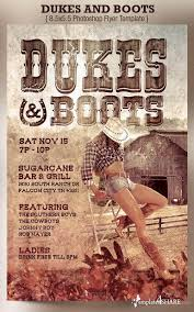 template flyer country free graphicriver dukes and boots country flyer template