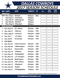 dallas cowboys football schedule 2017 nfl football schedule 2017