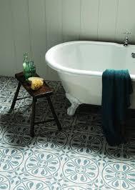 fabulous blue printed victorian floor tiles with elegant white