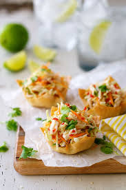 canape cups recipes 26 creative bites made with wonton wrappers food made