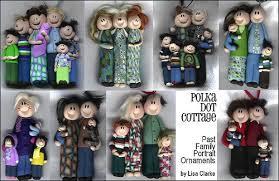custom family portrait ornaments polka dot cottage