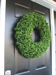 year wreath front door decor outdoor boxwood wreath