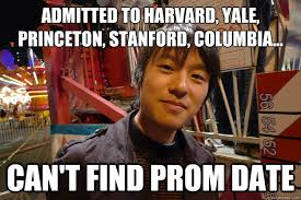 admitted to harvard yale princeton stanford columbia can t