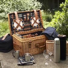 Picnic Basket Set For 4 Picnic Basket Prairie Picnic Basket Natural Wood Farmhouse Picnic