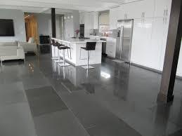 Gray Tile Kitchen - modern grey tile floor super all dining room