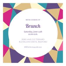 brunch invitation template triangle puzzle free printable brunch invitation template