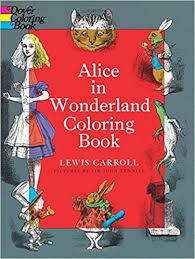 buy alice wonderland coloring book dover classic stories