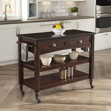 wood kitchen island cart wood kitchen islands carts you ll wayfair