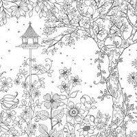 garden coloring pages adults secret garden colouring pages