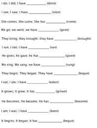 15 best irregular verbs images on pinterest irregular verbs