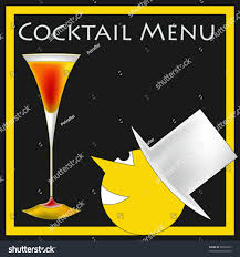 vintage martini illustration vintage deco style cocktail bar menu stock vector 99809735