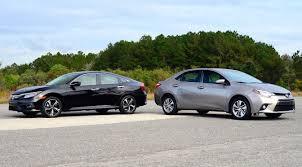 difference between honda civic lx and ex compact car shootout 2016 honda civic vs toyota corolla