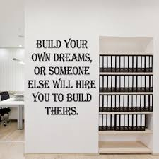 build your own dreams wall sticker quote wall chimp uk build your own dreams wall sticker quote