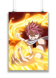 fairy tail anime anime fairy tail natsu the salamander poster in india silly punter