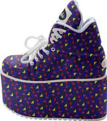 blue patterned shoes buffalo high tower spice girls platform red sneakers 90 s club kid