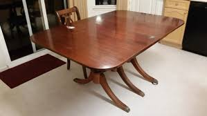 used wood dining table best refinished oak dining set two toned desjar interior regarding