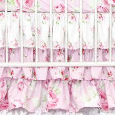 shabby chic roses crib sheet caden lane