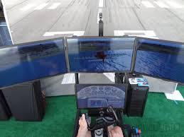 Flight Sim Desk Hands On With Hotseat U0027s 8 000 Triple Screened Flight Simulator