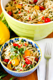lemony basil orzo salad recipe favorite potluck side dish