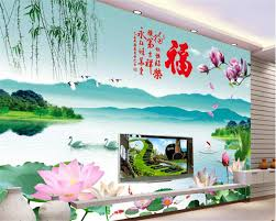 online buy wholesale mountains wall mural from china mountains beibehang custom is very beautiful wallpaper jiangnan scenery lotus mountain water background wall murals wallpaper for