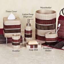 modern bathroom bath accessories glamorous red bathroom