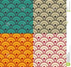 seamless japanese waves pattern vector eps8 stock vector image