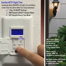 light switch timers for home security 7 day digital in wall programmable timer switch het01