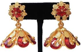 kerala style earrings kerala style palakka earrings ejk2603r kalanjali collections