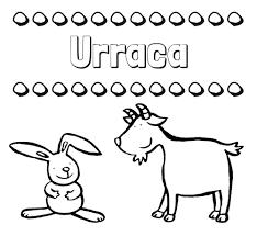 imagenes del animal urraca nombre urraca dibujos para niños su nombre con animales