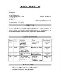 Sample Resume Headline For Freshers by Mba Model Resumes Fresher Resume Sample In Word Document Mba