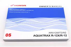 new owners manual honda aquatrax arx1200 n2 t2 2005 turbo and non
