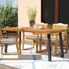 Wooden Patio Table Wood Patio Furniture You Ll Wayfair