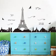paris eiffel tower night view beautiful romantic simple black diy paris eiffel tower night view beautiful romantic simple black diy wall stickers home decor wallpaper wall art decor mural room wall stickers large wall
