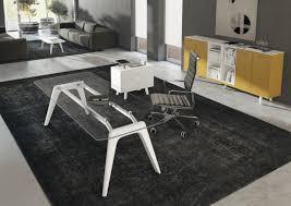 White Glass Desks by Rail Veneered Italian Executive Desk Range