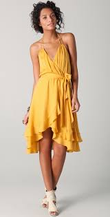 haute hippie halter dress with belt shopbop