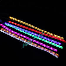 purple led lights for computers 1piece led light strip dc 12v 4p 7 colors smd adhensive neon for pc